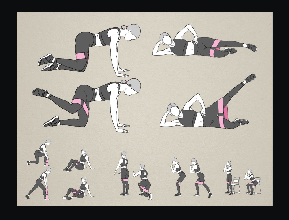 Creating  exercise technique illustrations (more than 200 pictograms)